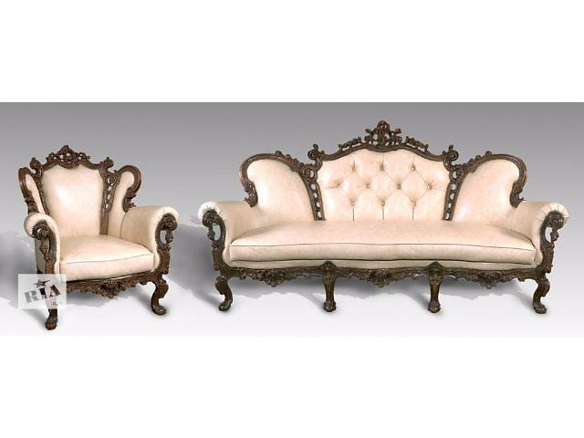 купить бу Кожанная мебель 3-1-1 Изабелла (3-х местный диван+2 кресла) в Киеве