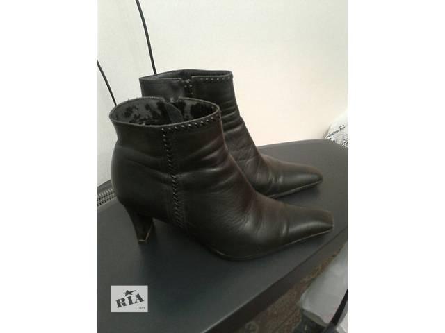 Кожанные ботинки в хорошем состоянии, размер 37- объявление о продаже  в Одессе
