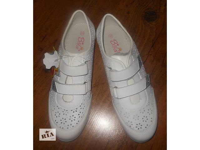 купить бу Кожанные, стильные, легкие, комфортные со стелькой кроссовки на девочку. Р.33 в Виннице