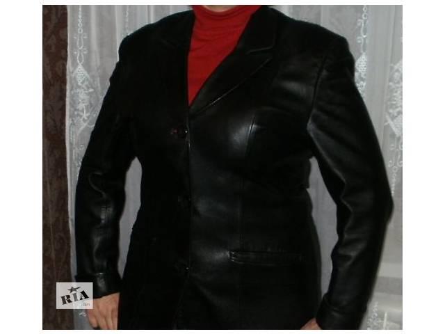 продам кожанный пиджак в отличном состоянии длина рукава регулируется бу в Мариуполе