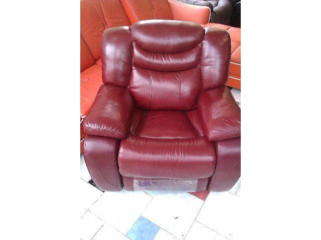 бу Кожаное кресло-реклайнер R-137 в Одессе