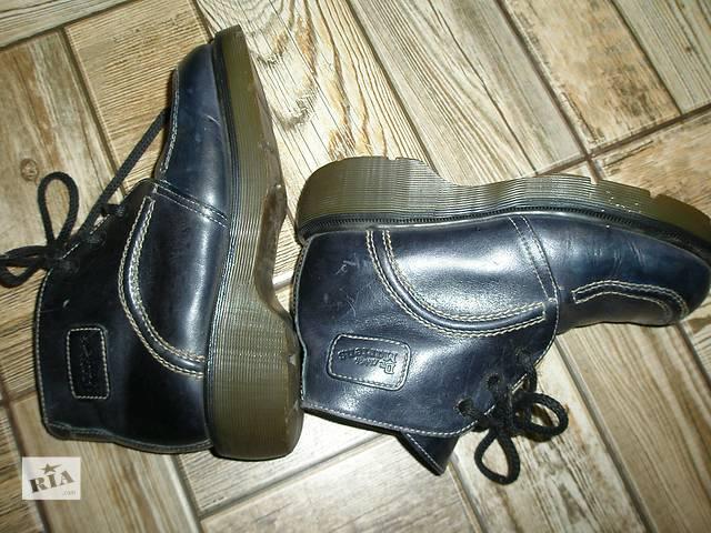 купить бу кожаные ботинки привезенные с Англии. 38разм/24см стелька в Марганце