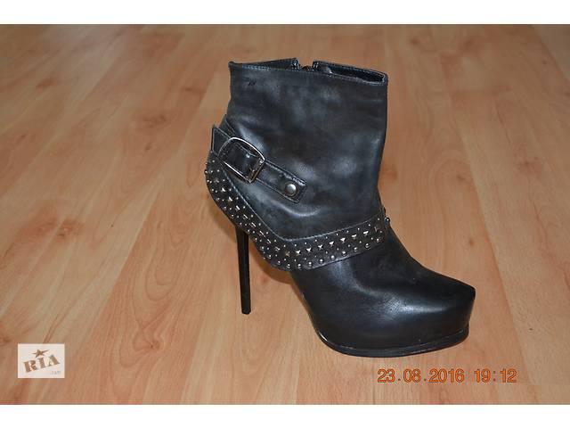 купить бу кожаные ботинки в Овруче