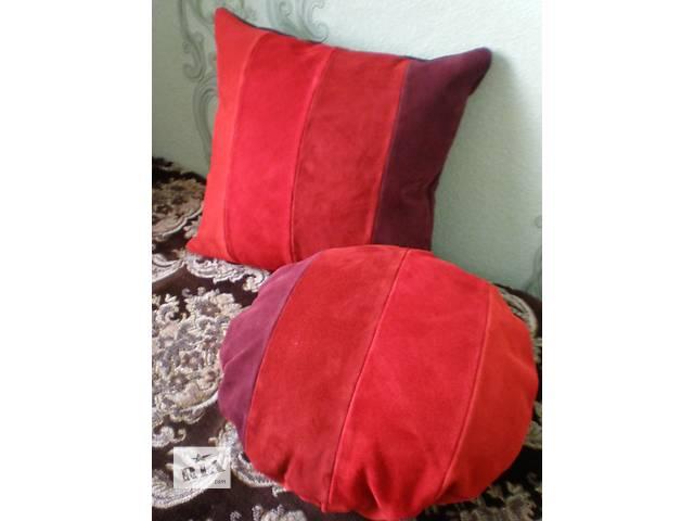 купить бу Кожаные подушки ручной работы в Харькове