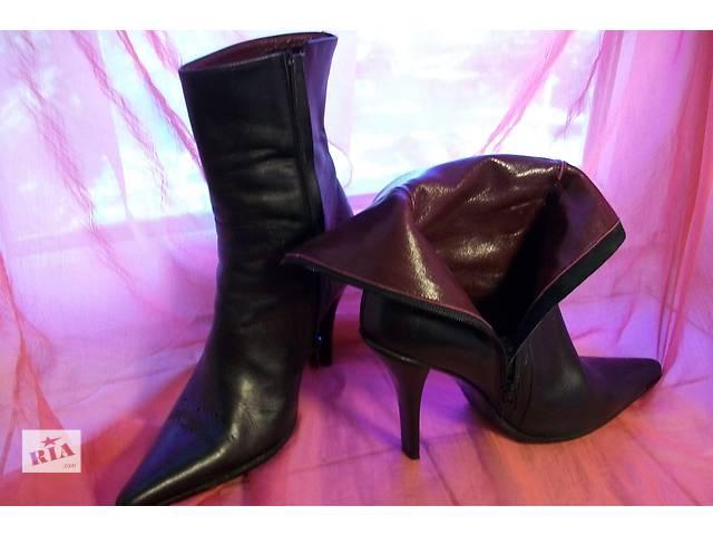 Дизайнерские кожаные сапоги 39 р Helen Marlen- объявление о продаже  в Виннице