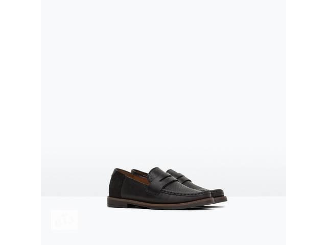 продам Кожаные туфли Zara на теплую осень для модника. Размер 26, 27 бу в Конотопе