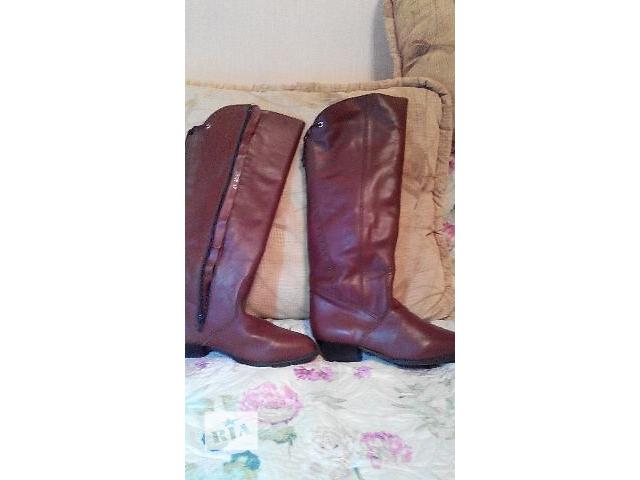 Кожаные зимние сапоги- объявление о продаже  в Сумах