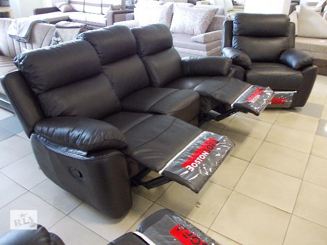 продам -10 %  Кожаный диван + кресло с реклайнером Alabama Bis бу в Ивано-Франковске