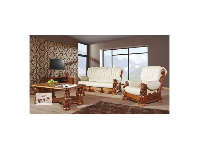 купить бу кожаный диван Mustang+2кресла,уголок кожаный,шикарный комплект из Европы в Дрогобыче