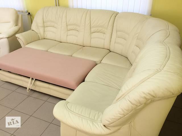 Кожаный диван (раскладной).Германия.- объявление о продаже  в Киеве