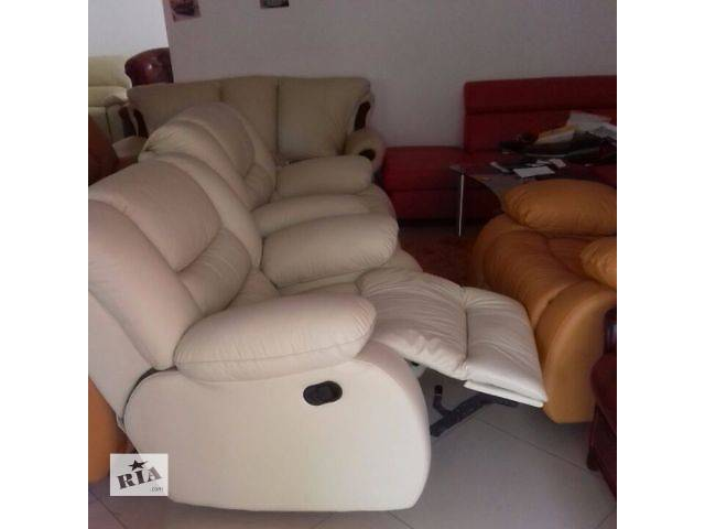 бу Кожаный диван релакс, мебель реклайнер, мебель Regan в Дрогобыче