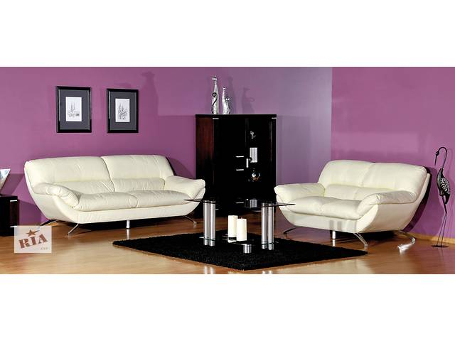 купить бу кожаный хай-тек диван модерн Ibiza,современный комплект мебели 3+1+1 в Дрогобыче