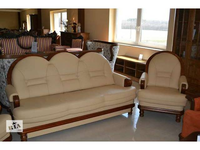 продам кожаный комплект Consul 3+1+1, шикарний кожаный диван бу в Дрогобыче