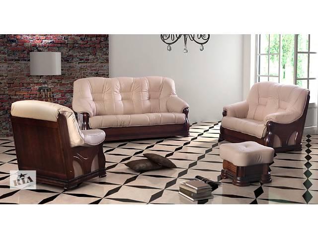 продам кожаный комплект на дубе, кожаный диван Italiano. кожаная мебель на дубе бу в Дрогобыче