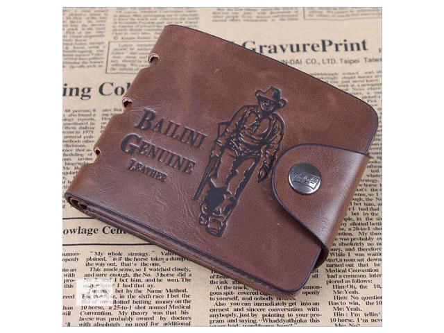 продам Кожаный мужской кошелек. Портмоне Bailini, бумажник. Хороший подарок! бу в Одессе