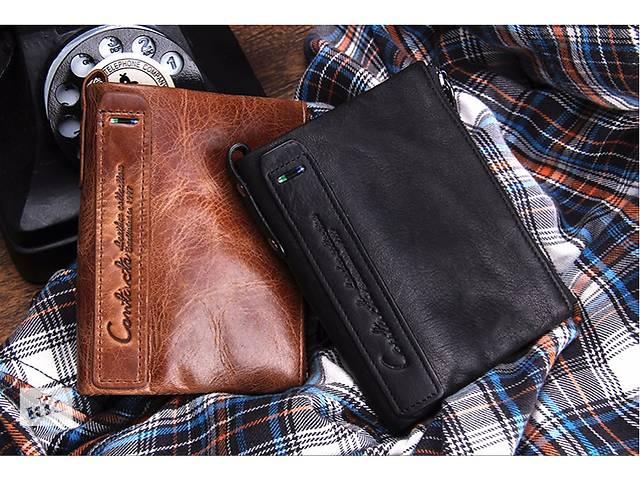 купить бу Кожаный мужской кошелек в Львове