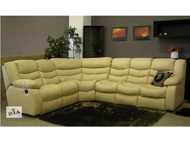 бу Кожаный мягкий уголок, кожаный угловой диван реклайнер в Дрогобыче