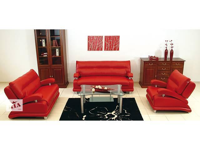 Кожаный раскладной диван, кожаный комплект 3+1+1 Matrix- объявление о продаже  в Дрогобыче