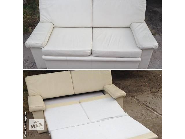 Кожаный раскладной диван- объявление о продаже  в Николаеве