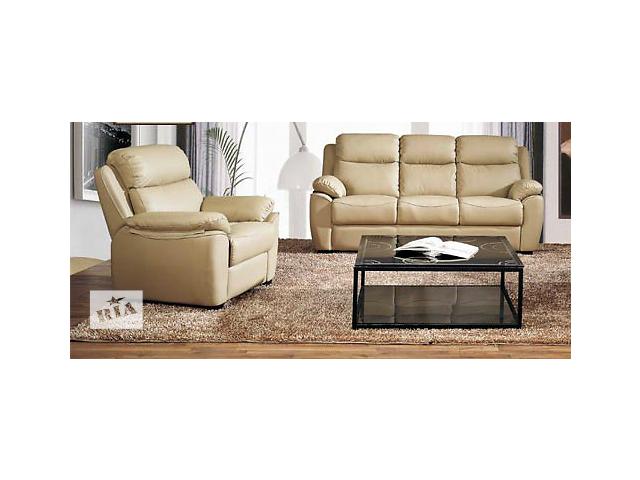 купить бу Кожаный трехместный диван с креслом Alabama Bis купить Киев в Киеве