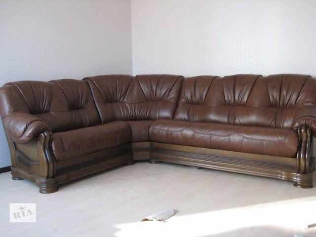 продам Кожаный угловой диван Alcor модель Граф в зеленом цвете 2н+уг+3р бу в Киеве