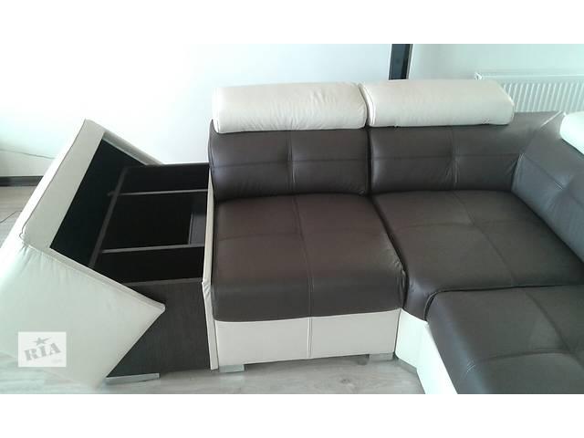 кожаный угловой диван Etna II, кожаный уголок, кожаная мебель- объявление о продаже  в Дрогобыче