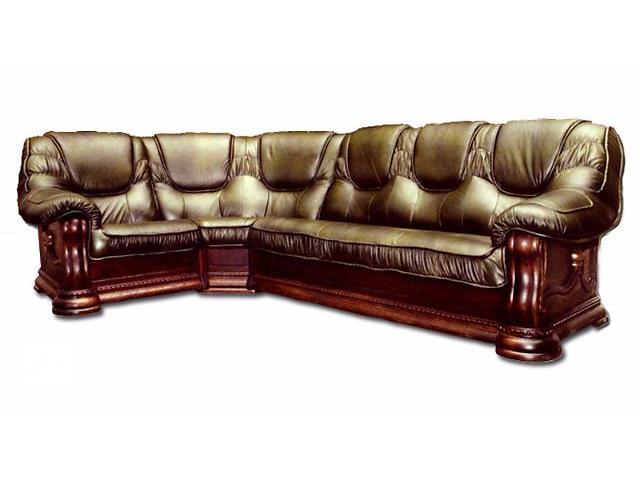 бу Кожаный угловой диван Grizzly коричневый цвет в Киеве