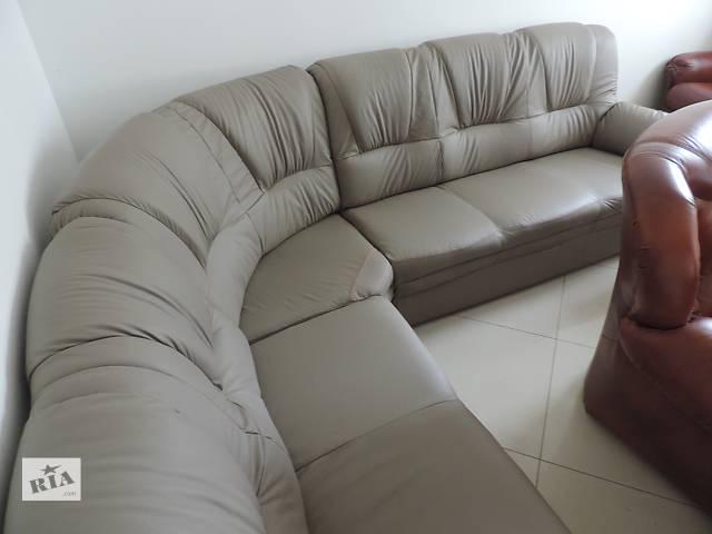 бу Кожаный угловой диван, кожаный уголок,кожаная мебель в Дрогобыче