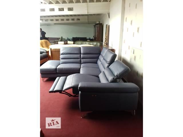 Кожаный угловой диван реклайнер модерн, кожаная мебель,кожаный диван- объявление о продаже  в Дрогобыче