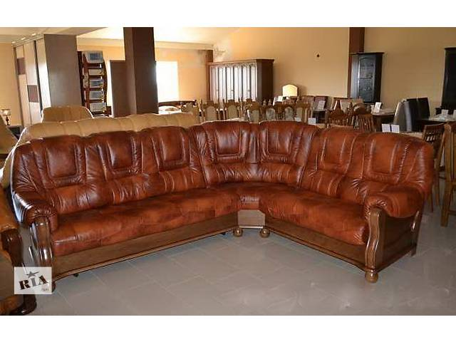 Кожаный уголок 3+1+1, кожаный комплект мебели Roma.кожаный угловой диван- объявление о продаже  в Дрогобыче