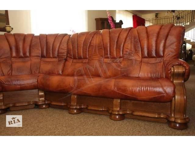 бу Кожаный уголок диван + 2 кресла на дубе Cezar III. шкірянй уголок Cezar III в Дрогобыче
