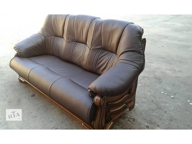бу Кожаный уголок раскладной диван + 2 кресла Alfa I в Дрогобыче