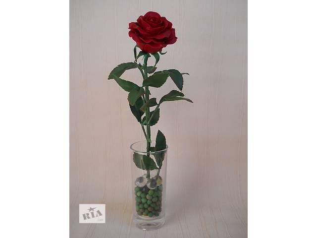 продам Красная роза из холодного фарфора. Ручная авторская работа. Интерьерная композиция. Подарок. бу в Запорожье