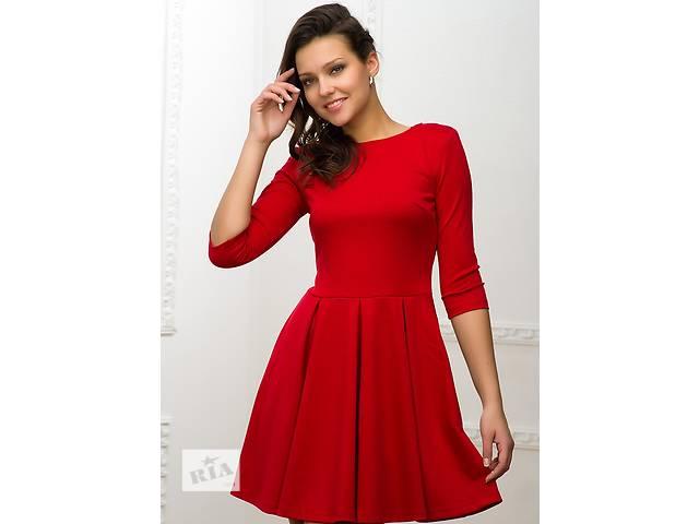 продам Красное платье с расклешенной юбкой. 4 цвета бу в Днепре (Днепропетровске)