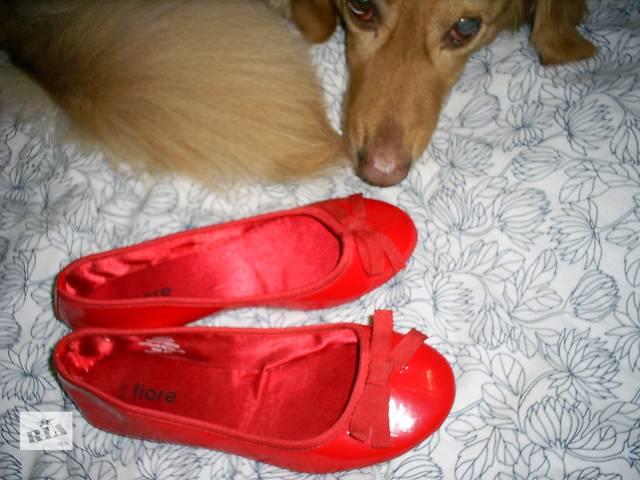 Красные балеточки- объявление о продаже  в Харькове