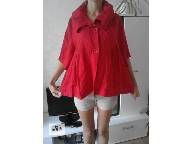 Красный пиджак из льна большого размера- объявление о продаже  в Полтаве