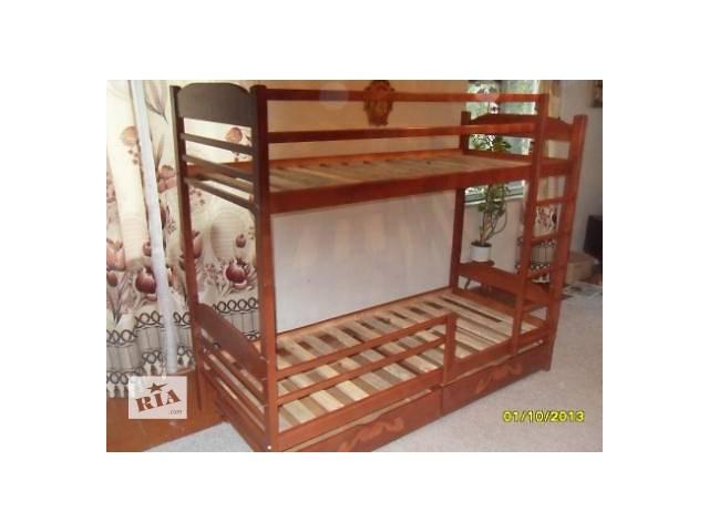 Красивая Двухъярусная кровать с дерева ольхи.- объявление о продаже  в Киеве