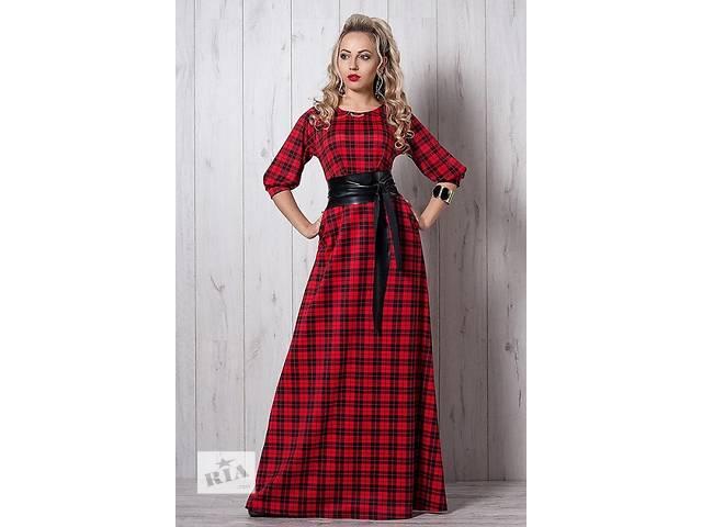 купить бу Красивое длинное в пол платье в клетку есть большой размер в Хмельницком