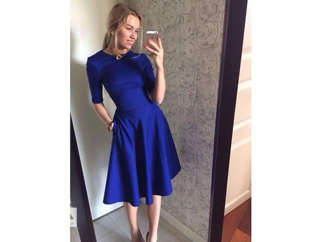 продам Красивое платье с юбкой-клеш. Новое. 4 цвета бу в Днепре (Днепропетровске)