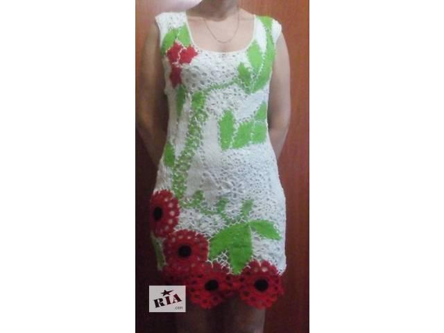купить бу Красивое платье ирландским кружевом в Тальном