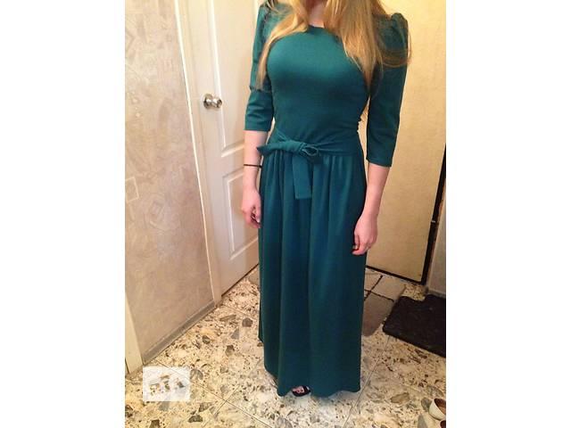 Красивое зеленое длинное платье!- объявление о продаже  в Киеве