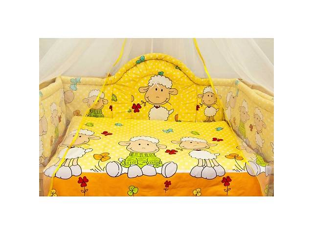купить бу Красивые высокие бортики и комплект постельного белья в кроватку новорожденного в Киеве
