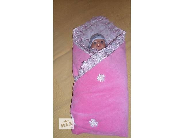 бу Красивый конвертик для новорожденной девочки в Сумах