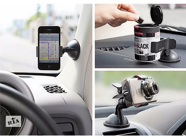 бу Крепление на присоске к лобовому стеклу автомобиля для телефона,смартфона,планшета,GPS-Навигатора. На подарок. В машину в Киеве