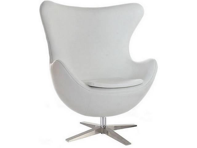 бу Кресло дизайнерское Егг, цвет белый кожзам в Днепре (Днепропетровск)
