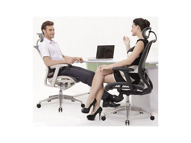 купить бу Кресло expert spark (sr-01g) для руководителя, эргономичное цвет серый в Киеве
