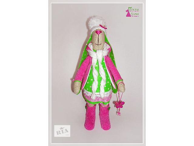 продам Кролик Габи. Интерьерная кукла Тильда. Текстильная игрушка ручной работы. бу в Херсоне