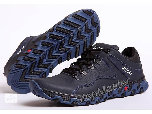 Кроссовки кожаные ECCO Track синие- объявление о продаже  в Вознесенске