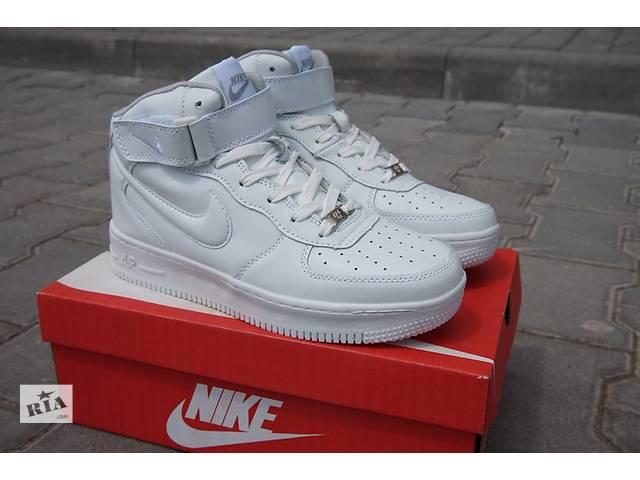 Кроссовки Nike Air Force высокие - белые и черные- объявление о продаже  в Черновцах