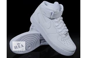 Кроссовки мужские, женские Nike Air Force High Высокие White (БЕЛЫЕ)